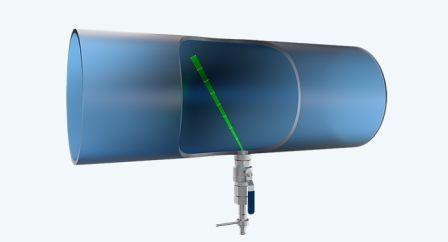 Senzor pro instalaci do potrubí